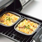 「【魚焼きグリルで時短調理】オーブンのようにこんがりおいしく調理!ひとり分にピッタリ『グリルdeモーニングトレー 2個組』」の画像、下村企販株式会社のモニター・サンプル企画