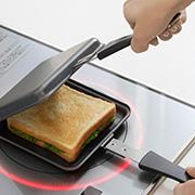 【お家でごちそうホットサンド】IH電磁調理器にも対応!キャンプにもおススメ「窒化加工鉄製トースターパン」
