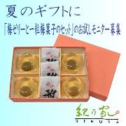【紀乃家】夏のギフトに「梅ゼリーと一粒梅菓子セット」お試しモニター募集