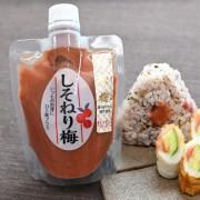 川辺食品株式会社の取り扱い商品「しそねり梅 160g 紅映梅(べにさしうめ)」の画像