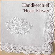 リネンレースハンカチHeart Flower
