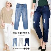 アクアガレージ(aquagarage)の取り扱い商品「大人の女性にピッタリ♪「美脚ダメージデニム」」の画像