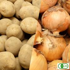 ふるさと21株式会社の取り扱い商品「有機JAS無農薬『玉ねぎ・じゃがいもセット』(北海道 渡辺農場)」の画像