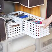 ユニコム170バスケット*隙間を奥まで使い切る細長プラスチックボックス