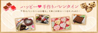共立食品 2016バレンタイン商品特集