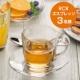 イベント「ル・ノーブル◆寒い冬にオシャレなカフェ風ブレイクタイム♪ガラスのカップ&ソーサー」の画像