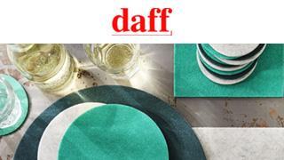 ル・ノーブル◆リサイクル素材のテーブルウェアアクセサリー「Daff(ダフ)」