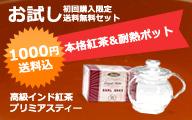 【初回限定・送料無料】高級紅茶&耐熱ティーポットのお試しセット