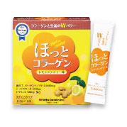 株式会社ニッタバイオラボの取り扱い商品「粉末清涼飲料【ほっとコラーゲン〈レモンジンジャー味〉】1箱(8.5g×15本)」の画像