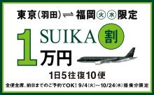 スターフライヤーSUIKA割(東京⇔福岡)