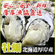 北海道厚岸産 殻付き生牡蠣