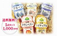 【送料無料】オーガニックドライフルーツ5種セット(byオーガニックスペース)
