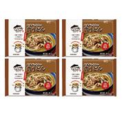 株式会社キンレイの取り扱い商品「お水がいらない 肉うどん4食(袋)」の画像