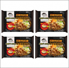 株式会社キンレイの取り扱い商品「お水がいらない 牛すき焼うどん4食(袋)」の画像