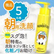 無添加処方 朝用泡洗顔 お布団の様な泡が寝起きの皮脂汚れを優しく落とします!朝から保湿して、化粧ノリをお助け♪