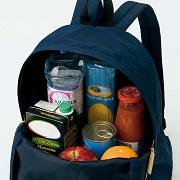 株式会社フェリシモの取り扱い商品「買い物帰りも背負ってらくらく 小さくたためる ポケッタブルリュック」の画像