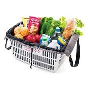 株式会社フェリシモの取り扱い商品「レジかご用バッグがスマートに変身! 大量買いもらくらく ビッグなリュック」の画像