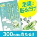 【300人募集】貼って寝るだけ!足裏からデトックスシート☆/モニター・サンプル企画