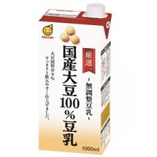 マルサンアイ株式会社の取り扱い商品「厳選国産大豆100%豆乳 1000ml」の画像