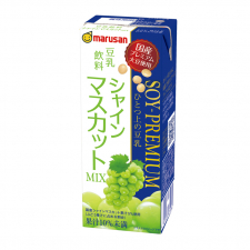 マルサンアイ株式会社の取り扱い商品「ソイプレミアム ひとつ上の豆乳 豆乳飲料シャインマスカットMIX 6本セット」の画像