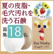 ザラザラ毛穴のいちご鼻を洗う<ガスールクレイ&アルガンオイル>配合洗顔石鹸「DotWashy」