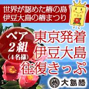 「世界が認めた椿の島◇伊豆大島への往復ペアきっぷプレゼント!!」の画像、大島椿株式会社のモニター・サンプル企画
