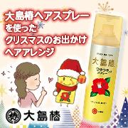 「クリスマスのお出かけに☆大島椿ヘアスプレーでヘアアレンジ☆」の画像、大島椿株式会社のモニター・サンプル企画
