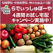 4週間お試し宅配キャンペーン【有機野菜のらでぃっしゅぼーや】