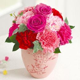 【日比谷花壇・母の日】アレンジメント「メルシーローゼ」
