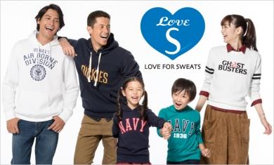 お気に入りがきっと見つかる「LOVE SWEAT」