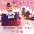 【Instagram募集】ハロウィン ケーキオーナメントプレゼント 20名/モニター・サンプル企画