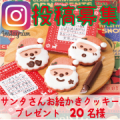 【Instagram募集】サンタさんお絵かきクッキープレゼント 20名/モニター・サンプル企画