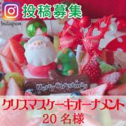 【Instagram募集】クリスマス ケーキオーナメントプレゼント 20名