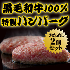 黒毛和牛ハンバーグ2個セット-特選松阪牛専門店やまと