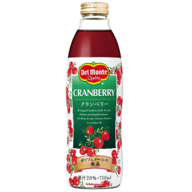 キッコーマン飲料株式会社の取り扱い商品「デルモンテ クランベリー20%」の画像