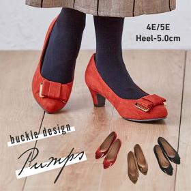 「バックルデザインパンプス(4E・5E選べるワイズ)(株式会社ニッセン)」の商品画像