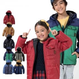 キッズ男女兼用裏フリース中綿ジャケットの商品画像