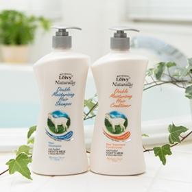レイヴィーヘアシャンプー&コンディショナーゴートミルクの商品画像