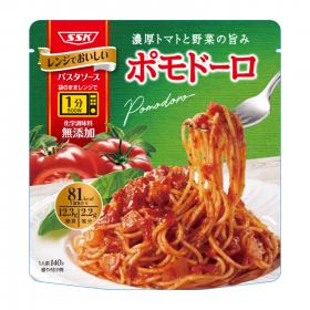 清水食品株式会社の取り扱い商品「レンジでおいしい パスタソース ポモドーロ」の画像