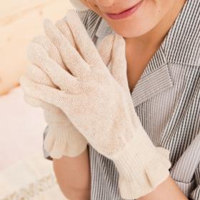 麻福ヘンプ おやすみ手袋の商品画像