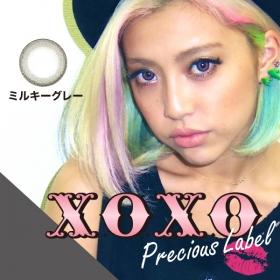 X.O.X.O プレシャスレーベルミルキーグレー カラコン半年~1年の商品画像