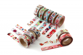 「あさくさ福猫太郎開運 15mm幅×10mマスキングテープ 10種類から1種類選べ(株式会社HOKUSHIN)」の商品画像の3枚目