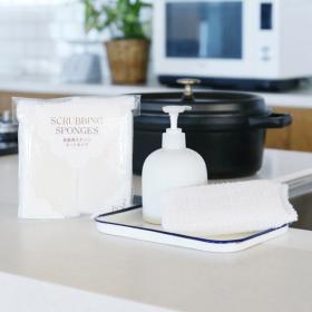 「【LOHACO限定】泡立ちやすく水切れもいい食器用ネットスポンジ2個入×2パック(アスクル株式会社)」の商品画像
