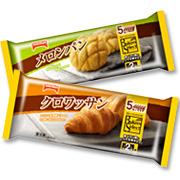 「【ベーカーズセレクト】クロワッサン×メロンパン(テーブルマーク株式会社)」の商品画像