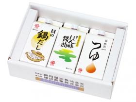 「貝の鍋だし・ぽん酢・自然流つゆ 3ケ入りセット(鎌田商事株式会社)」の商品画像