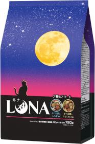 「LUNA(ルナ) かつお節としらす&ほたて味ビッツ添え 720g(ペットライン株式会社)」の商品画像