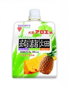 「大粒アロエin クラッシュタイプの蒟蒻畑 パイナップル味(株式会社マンナンライフ)」の商品画像