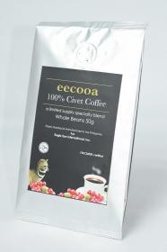 イーグルアイ・インターナショナル株式会社の取り扱い商品「エクーア シベットコーヒー 豆 50g (ジャコウネココーヒー、コピルアック)」の画像