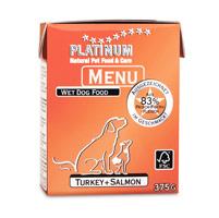 プラチナム MENU ウェットフード ターキー+サーモン 1テトラパック375gの商品画像