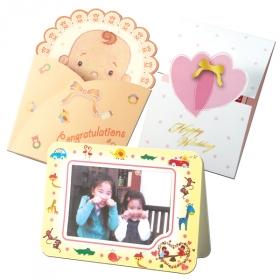 【口と足で描いた絵のカード3種】 特別な日に贈る、心を込めたメッセージ の商品画像